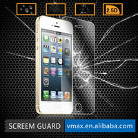 Vmax 0.26mm Anti-Shock Explosion-Proof 2.5D 9H Cell Phone/Mobile Premium tempered glass screen protector for iPhone 5 5c 5s