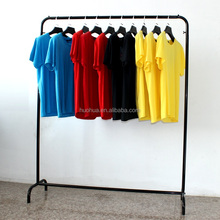 huohua metal material single bar black color garment display <strong>shelf</strong>