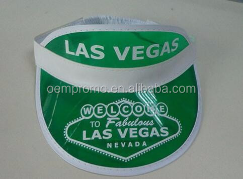 Cheap Promotional Plastic PVC Transparent Sun Visor Cap With Custom Logo
