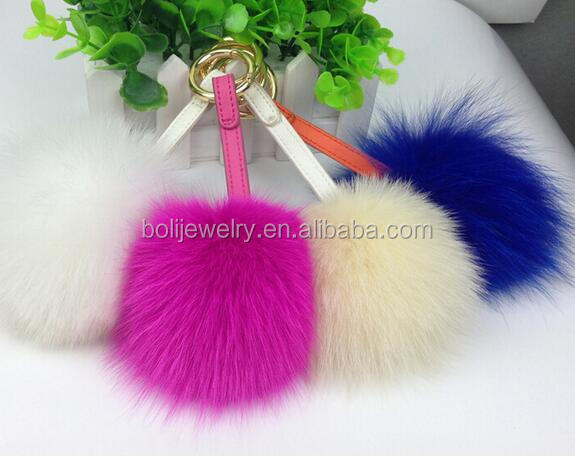 Coloful Fake Fox Fur Charms For Handbag
