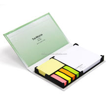 hard cover box with sticky note memo pad sticky index tabs