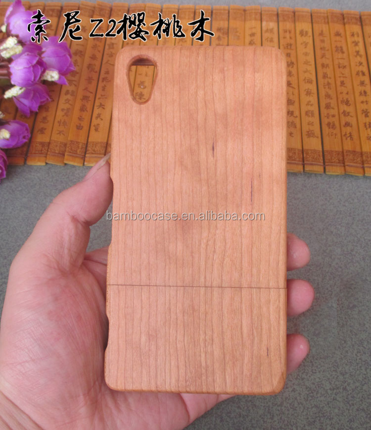 Factory Hot Sale Wooden Bamboo Mobile Phone Cover For Sony Xperia Z2 Luxury Handmade Wood Cell Phone Case For Sony Z2 Housing