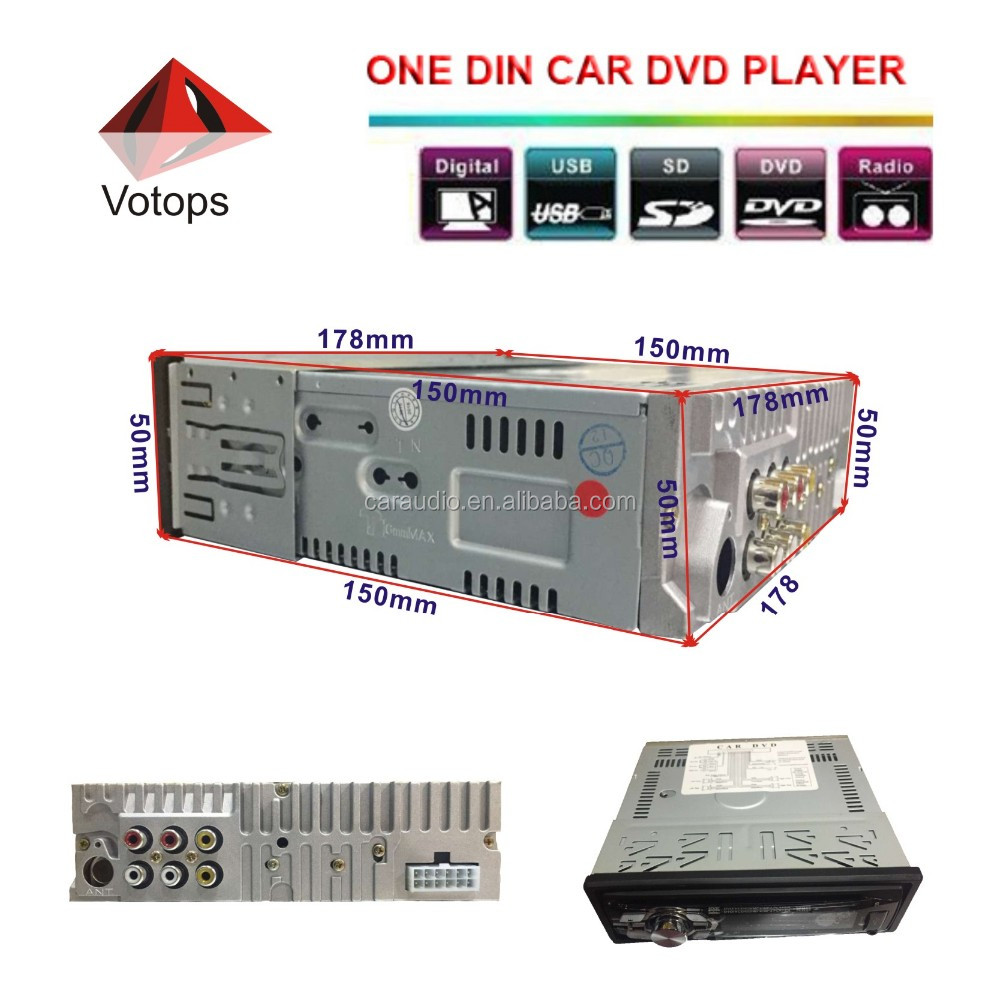 Fix/Detachable panel Car 1din dvd player with CD/DVD/USB/SD/ID3/MP3/MP4/FM