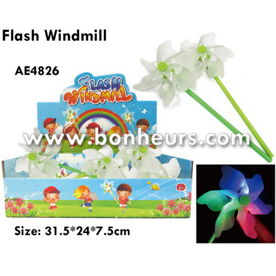 New Novelty Toy Three Colors Led Light Spinning Flash Windmill