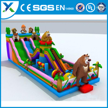 Inflatable bear theme castle/inflatable bouncy bear theme castle with slide/inflatable bouncer castle
