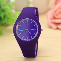 2015 New Fashion GENEVN 12 Colors ICE Ultra-thin Silicone Watch Quartz Analog Wrist Watch With CE certification