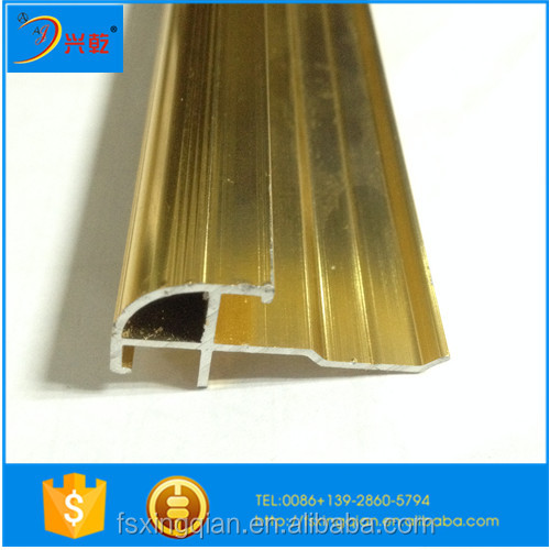 aluminum tile cover strips for 6mm tiles or laminate boards or tiles