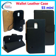 Stylish Mini Style Pattern Stand Magnetic Leather Back Cover for Samsung galaxy S5 mini