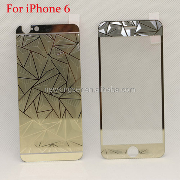 0.3mm Front and Back screen protector Diamond tempered glass film for iPhone 6 4.7 inch