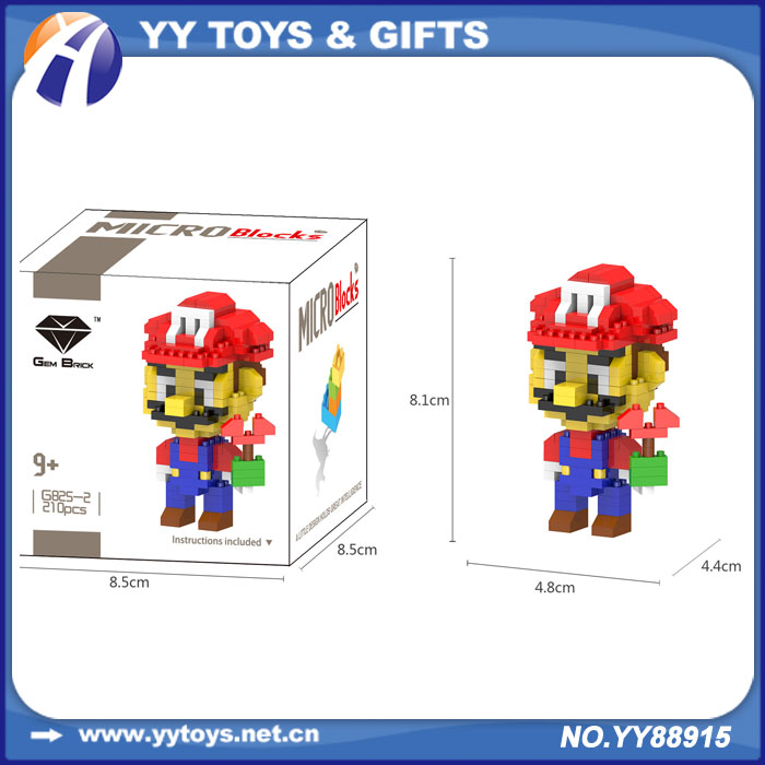 Children's famous cartoon character cute plastic toy building blocks