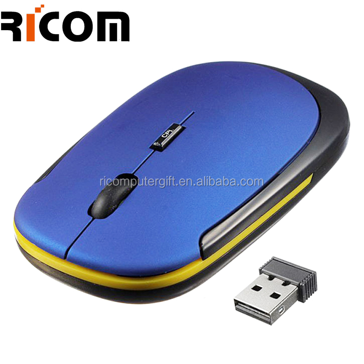 2.4G Wireless Optical Mouse 1600 dpi Mice Fashion Ultra-thin Mouse USB Receiver for Laptop Notebook PC Desktop Computer