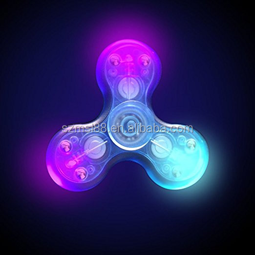 Flash fidget Spinner toys LED message hand Spinner with bluetooth