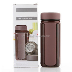 Portable Custom Metal Double Layer Vacuum Bottle With SS Tea Filter