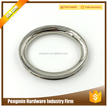 Nickle zinc alloy round shape metal factory ring