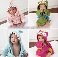 New Cartoon Animal Baby Hooded Bathrobe Beach Towel for Children Hooded Baby Bath Towel