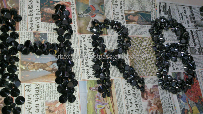 HRB Branded Brilliant Black Moissanite Synthetic black diamond . Wholesale lot for sale