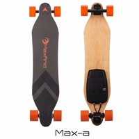 Maxfind China manufacturer wholesale 38 inch Professional Electric longboard skateboard with led light and wireless remote