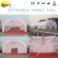 Giant inflatable tunnel tent