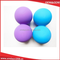 Silicone Peanut massage ball , Silicone Double ball Massage roller ball