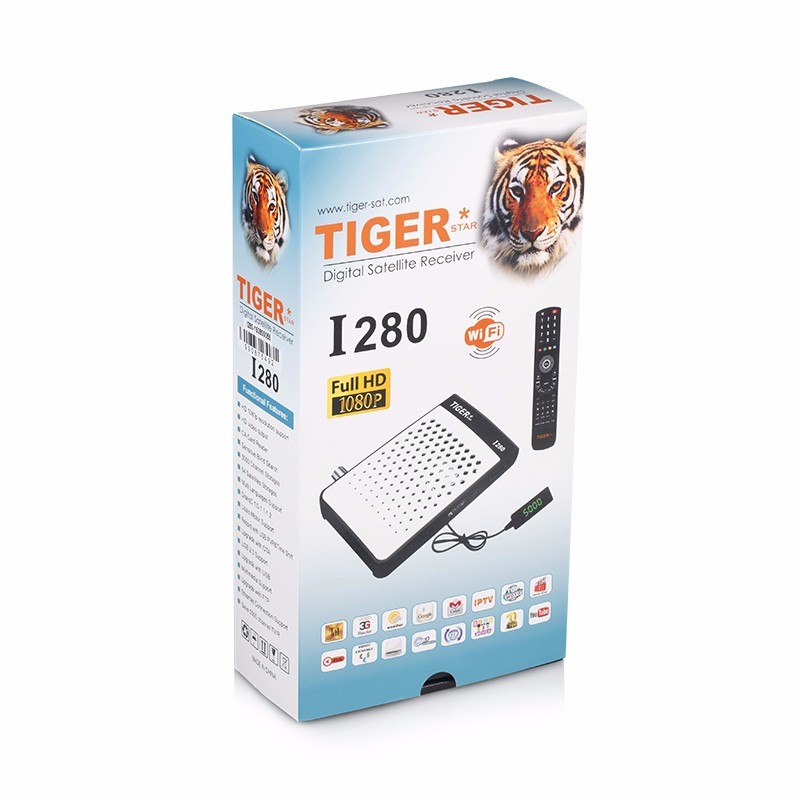 Tiger I280 IPTV Box Digital Satellite Receiver Free To Air