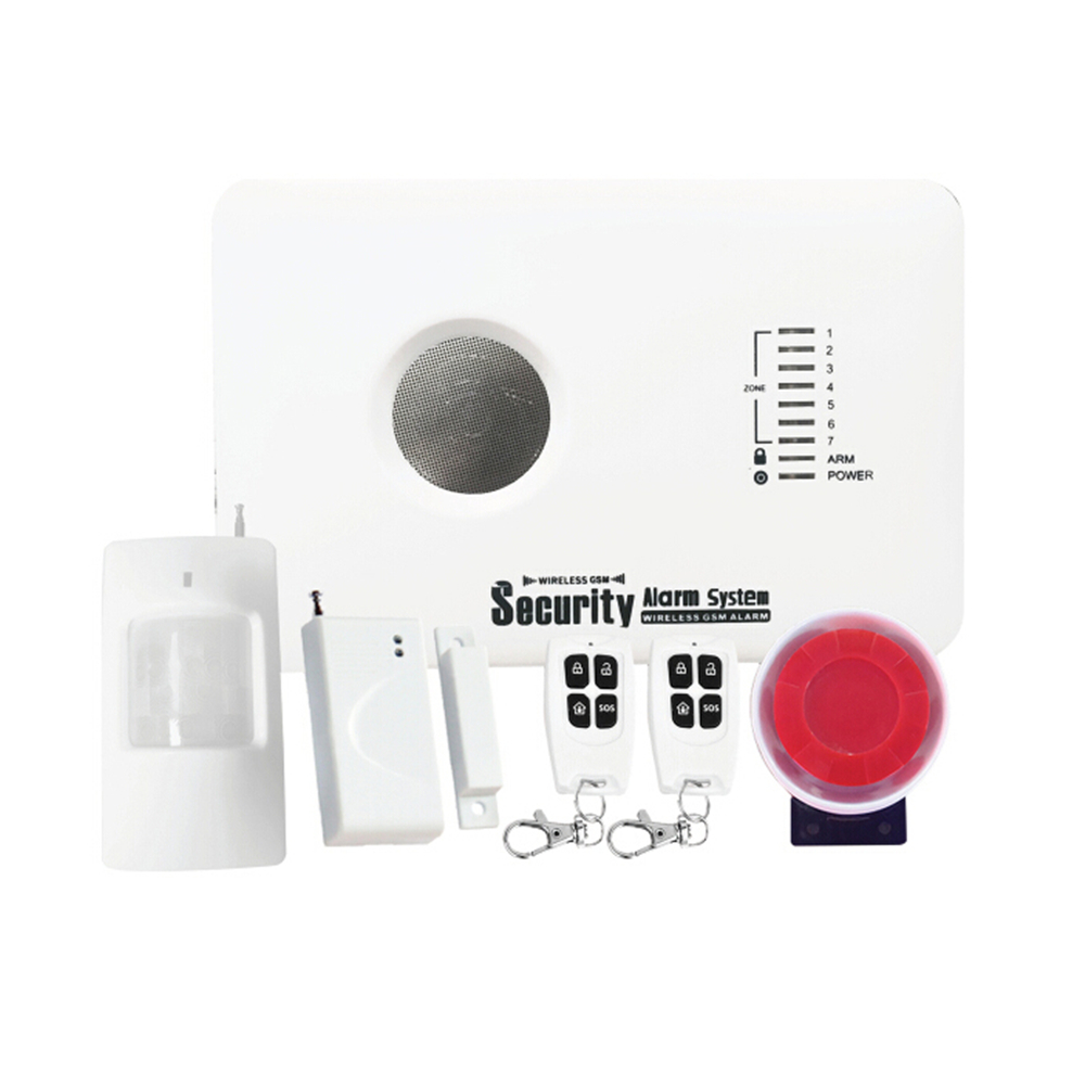 3 WIRED & 7 WIRELESS ZONES ALARM SMS GSM SENDER