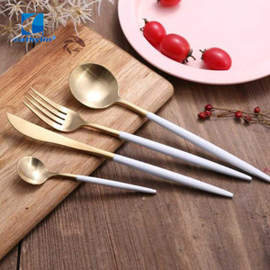 Odorless stainless steel banquet cutlery set, knife fork spoon flatware