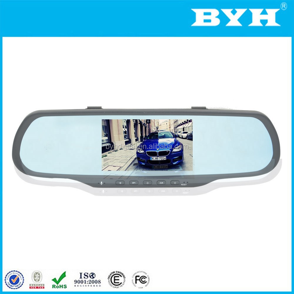 Best quality vehicle traveling data recorder gps navigation android auto dimming smart rearview mirror with reverse camera