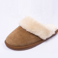 Lotustep Wholesale Mens Winter Indoor Outdoor Comfortable Adult sheepskin slipper