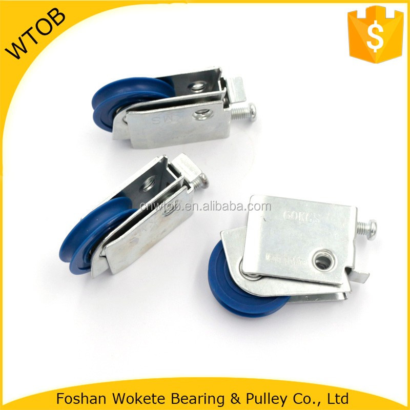 Punching Bracket Pulley with Single Roller Bearing Hanging Sliding Door Wheels Roller