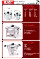 SINGLE HANDLE COOKING POT ROUND CHAFING DISH