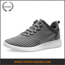 China Wholesale Flyknit Upper Running Mens Athletic Shoes