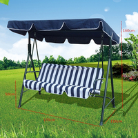 LG-AH1020 Yongkang LanGe steel and fabric leisure outdoor garden canopy hammock 3seat swing chair