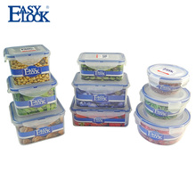 High Quality Plastic Stackable Bento Lunch box Round <strong>Flat</strong>