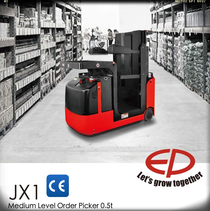 EP 0.5 Ton Multi-functional Medium Level Electric Order Picker with Germany transmission