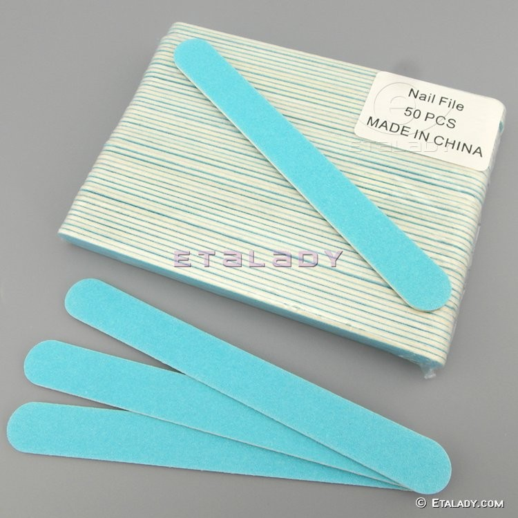 wood middle-level white disposable bulk nail file
