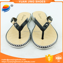 Latest Arrivals PVC Footwear Strap Design Women Thong Flipflops 1J706+11FW