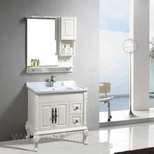 prefab homes small size bedroom design wall mounted PVC bathroom cabinet vanity B-8210 for antique bathroom vanity cabinet