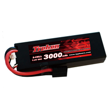 RC trucks 50C 7.4V 2S 3000mAh rechargeable lipo hardcase RC car drift battery