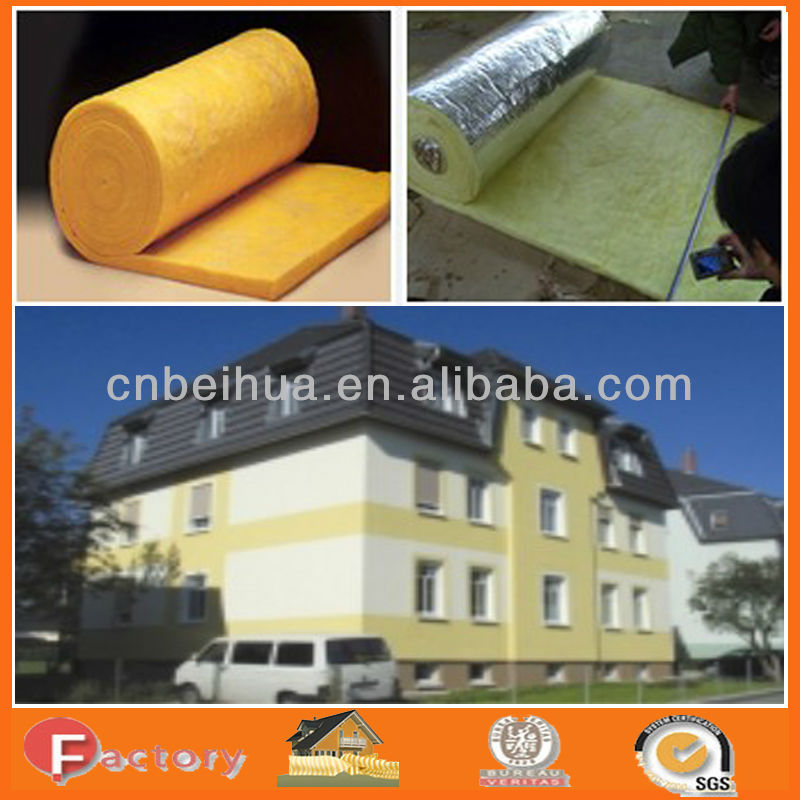 insulators for roof / glass wool insulation batts