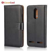 Stand Wallet Coque Funda Flip Cover Genuine Leather Case for Lenovo Vibe B K5 K6 C2 P2