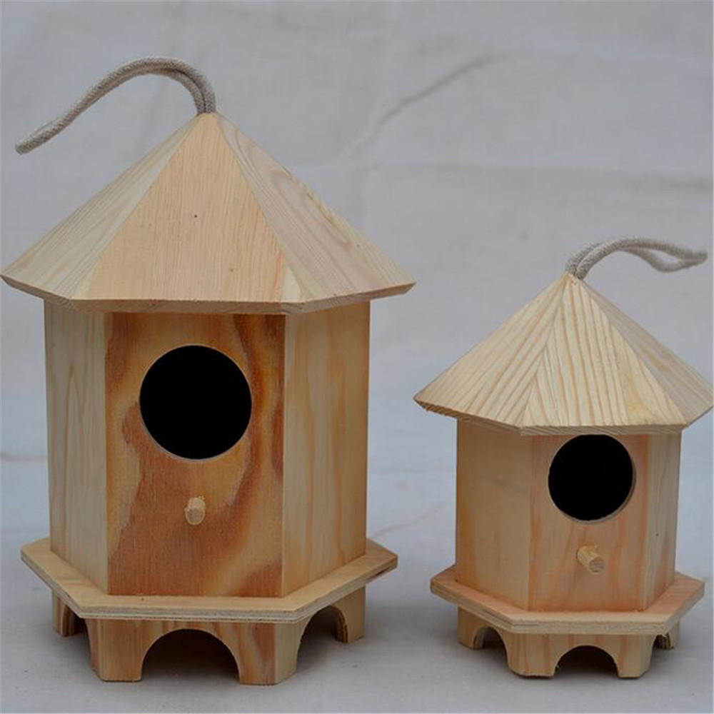 Amazon hot saling commercio all'ingrosso decorazioni di natale uso di legno birdhouse