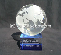 world map crystal solid ball 100mm
