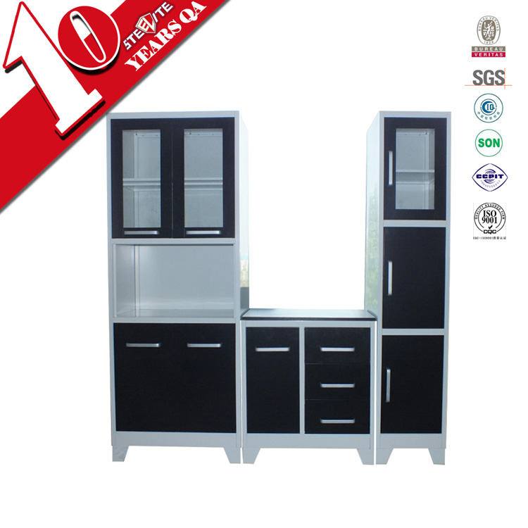 Factory Price High Gloss Vinyl Wrap Doors Kitchen Cabinets