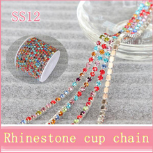 Alibaba wholesale ss6,ss10 ss12,ss16,ss18,ss 28 crystal rhinestone cup chain