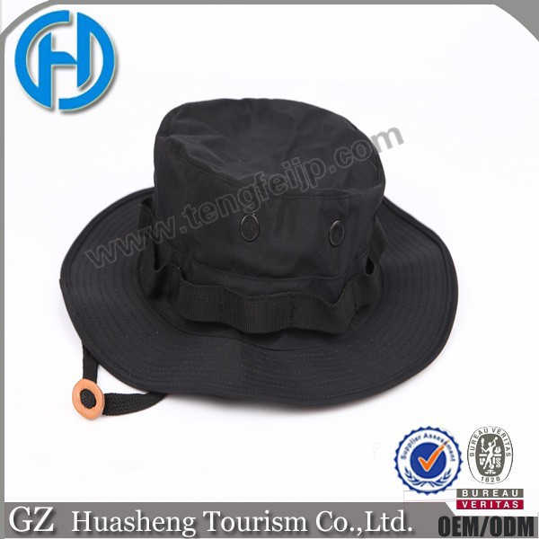 Military Dress up Waterproof Round Brimmed Hat Cap