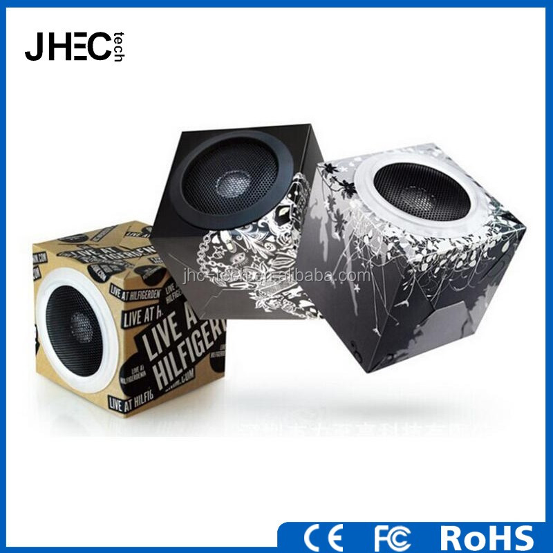 Custom design foldable carton mini usb speaker import for tablet pc mp3 mp4