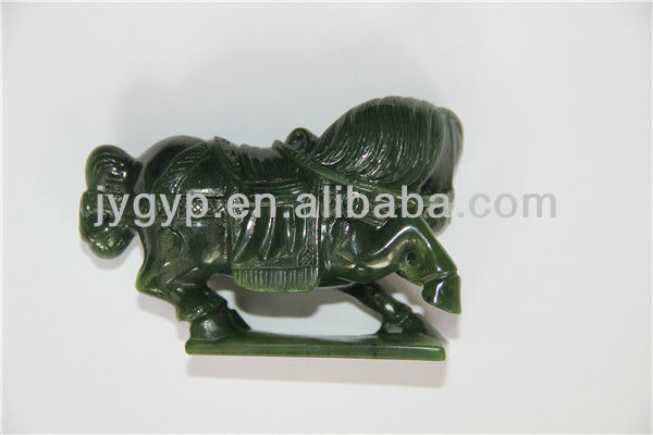 chinese carved green jade horse