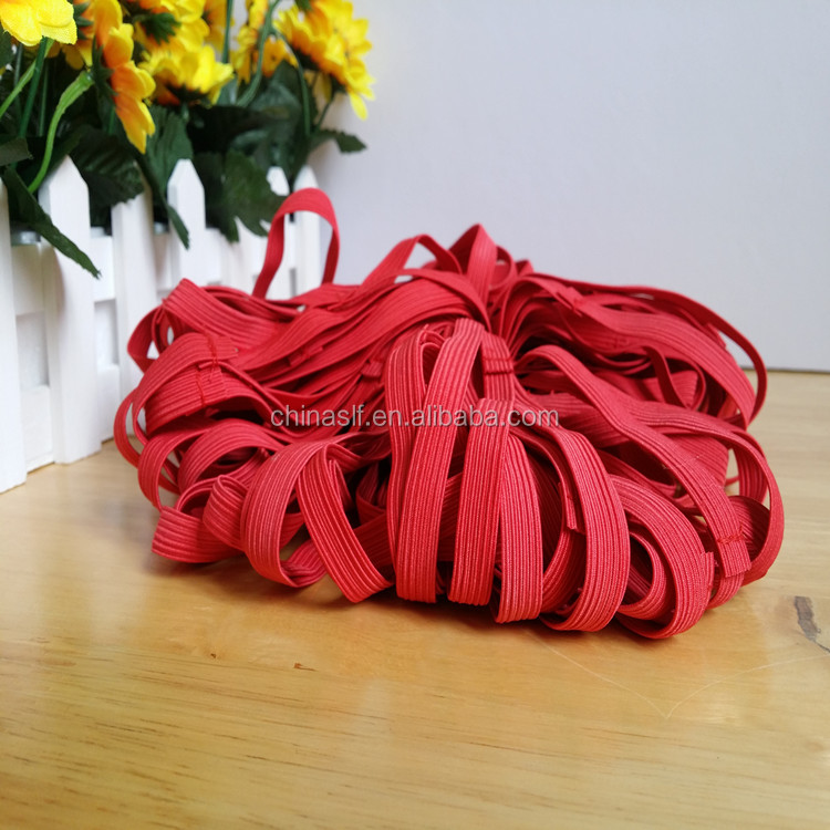 2016 simple style red crochet elastic band