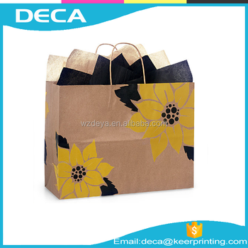Custom cheap recycled offset printing Kraft Paper Bags