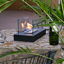 Standard Fireplace Bio-Ethanol Table With Steel